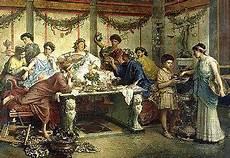 banchetto romano alimentazione nell antica roma