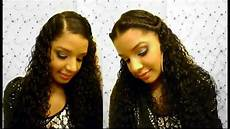 how to 2 easy cute quick curly hairstyles tutorial