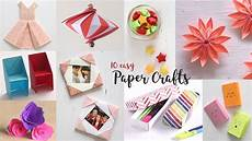 10 easy paper crafts compilation diy craft ideas art all the way youtube