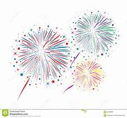 Vector Abstract Anniversary Bursting Fireworks Stock