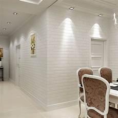 Revetement Mural Vinyle Moderne 3d Brique Papier Peint Rouleau Blanc 201 Pais 3d