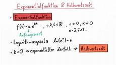 exponentialfunktionen und halbwertszeit 220 bung