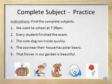 simple subjects and complete subjects video and worksheet youtube