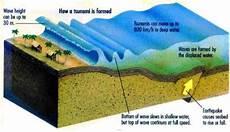 Gambar 1 Mekanisme Tsunami Yang Dipicu Oleh Gempa Bumi