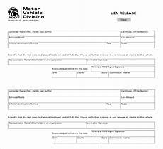 car lien release form free 13 lien release sle forms in ms word pdf excel