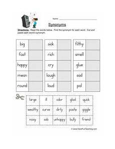 synonyms worksheet 1 synonym worksheet first grade worksheets teaching vocabulary