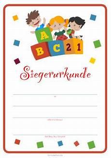 kinder siegerurkunde kinder abc pdf vorlage zum
