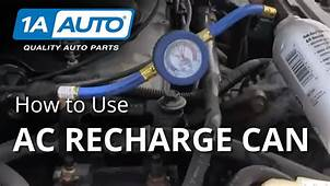 How To Use An Over The Counter AC Recharge Canister Get