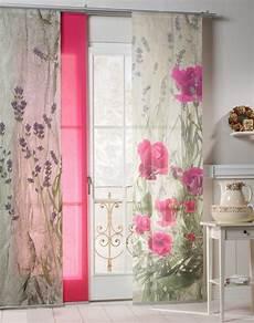 schiebegardinen mit klettband schiebegardine 187 landhaus rose 171 emotion textiles