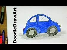 How To Draw A VW Beetle  Slug Bug Punchbuggy Easy