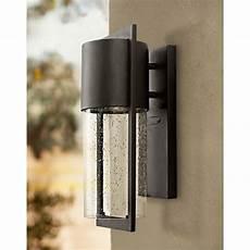 hinkley shelter outdoor wall light hinkley shelter 15 1 2 quot high black outdoor wall light m8060 ls plus