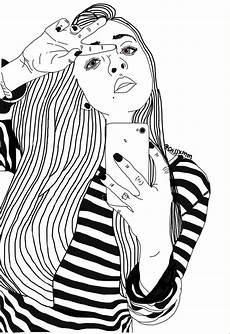 noir noir er blanc noir et blanc fille image
