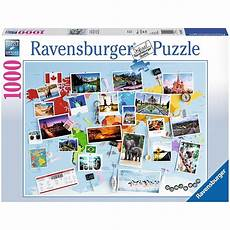 Reise Um Die Welt 1000 Teile Ravensburger Puzzle