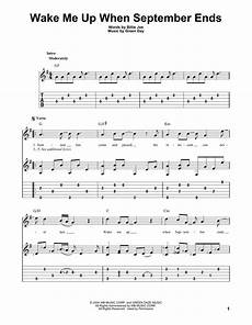 wake me up when september ends sheet music green day guitar tab