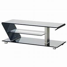 tv tisch glas tv tisch 3 ablagen fernseh regal sicherheits glas alu