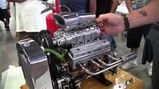 V8 Motor Bausatz Benzin - miniature blown v8 engine