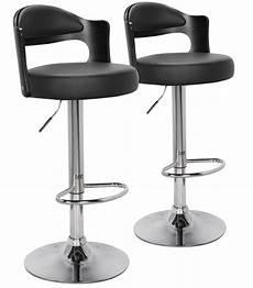chaise haute moderne chaise haute moderne similicuir noir buli lot de 2