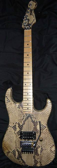 warren demartini guitar performance guitar python boa constrictor snakeskin warren demartini ratt tune