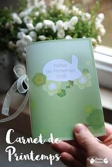 carnet de printemps carnet de printemps printable papier bonbon