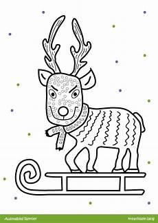 Malvorlagen Rentieren Cooles Rentier Malen Zu Weihnachten Mit Ausmalbild