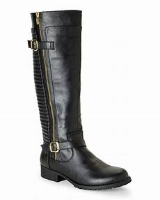 steve madden black quincy quilted biker boots in black lyst