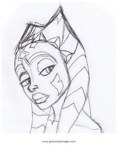 malvorlagen wars ahsoka ahsoka tano 01 gratis malvorlage in science fiction