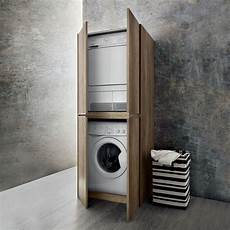 schrank für waschmaschine selber bauen mobile per impilare lavatrice e asciugatrice top cucina
