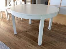 extendable dining table ikea bjursta white in