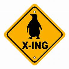 Lustige Malvorlagen Xing Penguin Crossing Sign Digital By Marvin Blaine