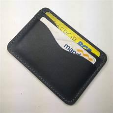 jual dompet kartu simple wallet slim wallet kulit sapi asli warna hitam di lapak tilurut tilurut