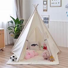 yard five poles children teepee tent play tent teepee