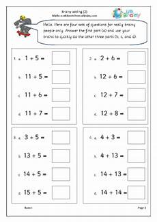 maths worksheets for year 1 15628 brainy addition 2 intelligent practice