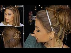 cute lazy hairstyles for short hair 4 cute lazy winter hairstyles youtube