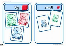 sorting size worksheets 7881 printable activity suitable for workstation use learners sort images into big or small groups