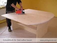 Schreibtisch Selber Bauen Aus Vollholz F 252 R Zwei