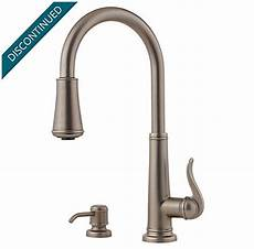 pewter kitchen faucets rustic pewter ashfield 1 handle pull kitchen faucet gt529 ype pfister faucets