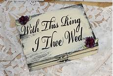 ring box ring bearer groom with this ring i thee wed