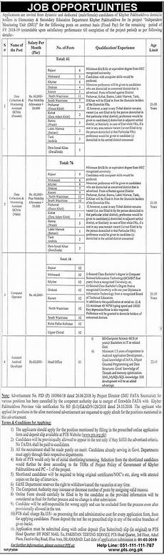 ese department kp 2019 for 156 it computer operators and data collection monitoring