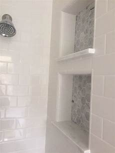 master bathroom reveal dual shower cubbies small