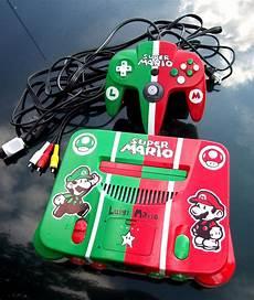 mario console mario brothers custom nintendo 64 console by