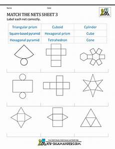 geometry nets worksheets 823 3d shapes worksheets and 3d on