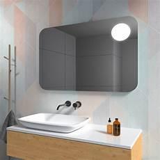 spiegelle bad bad spiegel mit runden ecken led strahler kaufen spiegel21