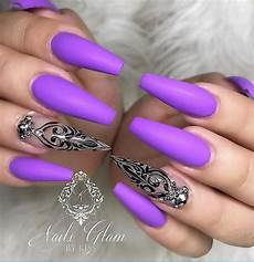60 gorgeous acrylic purple nails art design ideas