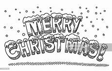merry christmas text snowing drawing high res vector graphic getty images