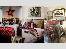 DIY Rustic Farmhouse style Christmas bedroom decor Ideas