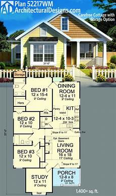 bungalow house plans with basement and garage 25 ft wide house plans best of plan wm carefree cottage