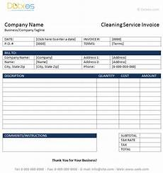 receipt for services template microsoft word cleaning service invoice template dotxes