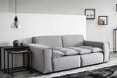 hellgraue couch design sofa 3 sitzer stoff hellgrau mellow miliboo