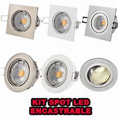 kit spot led encastrable kit spot led encastrable gu10 230v carr 233 aluminium satin