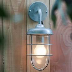 garden trading st ives harbour wall light galvanised